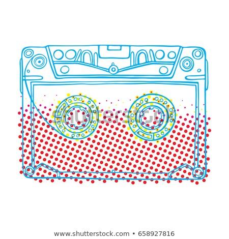 Compacto música estoque ouvido telefones isolado Foto stock © kitch