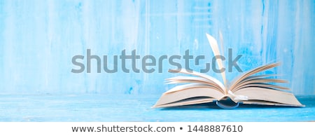 Stack of hardcover books Stock photo © nailiaschwarz