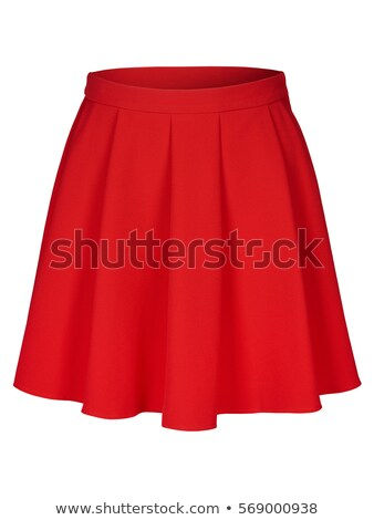 Piros szoknya lábak csípők lebarnult hölgy Stock fotó © dolgachov