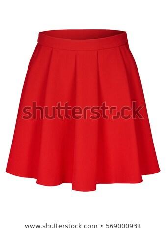 красный юбка ног бедра Lady Сток-фото © dolgachov