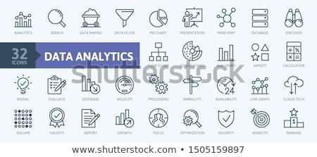 Fluxograma engrenagens gráfico bar azul marketing Foto stock © 4designersart