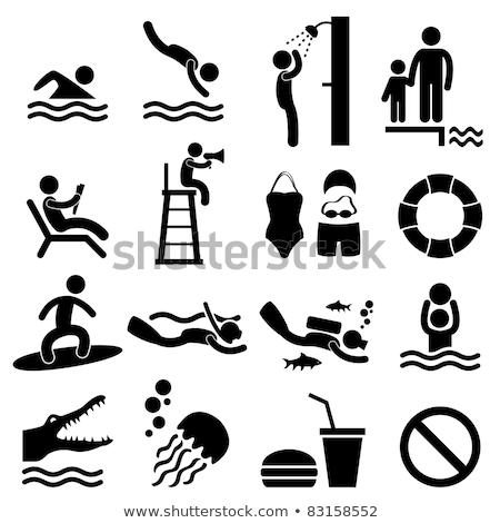 Swimming Pictogram Stock photo © zooco