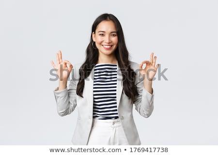 Dość pracodawca portret udany kobieta interesu patrząc Zdjęcia stock © pressmaster