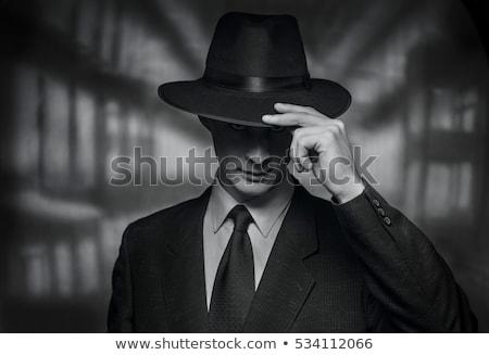 男 · フェドーラ · 魅力的な · ハンサムな男 · 帽子 · セクシー - ストックフォト © ruslanomega