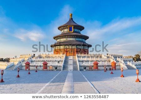 Kínai templom részlet tető Stock fotó © advanbrunschot
