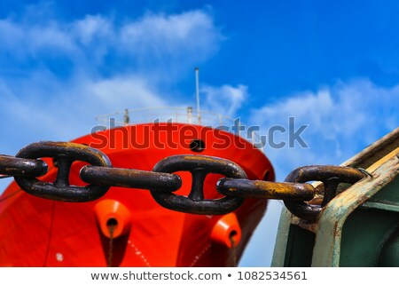 Anchor chain on grunge stock photo © sifis