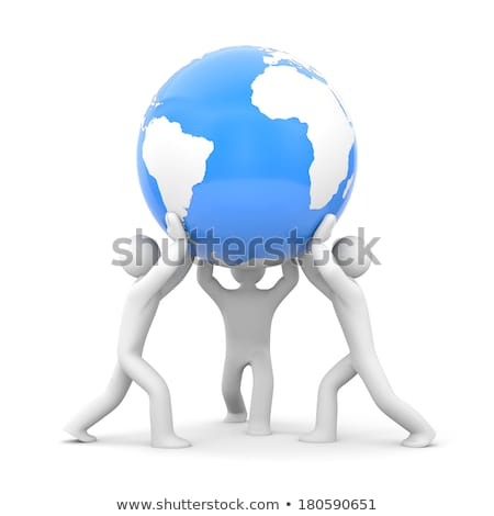 Hand holding a Hello 3D Sphere Stock photo © kbuntu