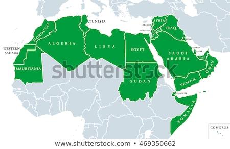 Stockfoto: Kaart · kleuren · Tunesië · illustratie · vlag · kunst