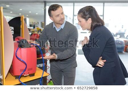 портативный · генератор · электрических · власти · прилагается · черный - Сток-фото © lisafx