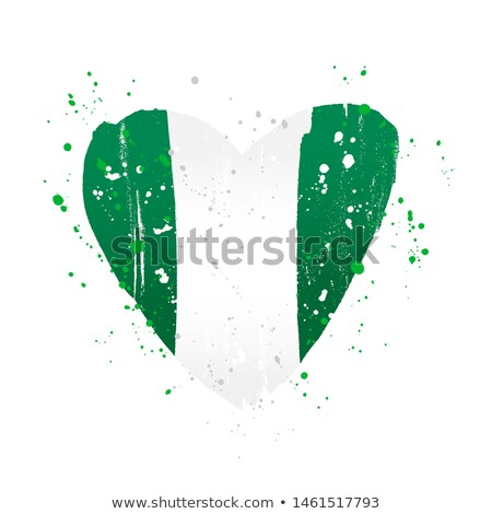 Image of heart with flag of Nigeria Stock photo © perysty