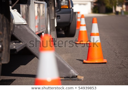 Highway worker with traffic cones Stock photo © photography33