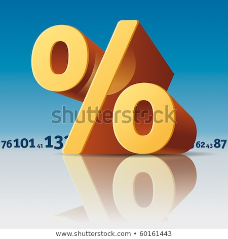 Stock photo: Percent Symbol with Numbers Skyline