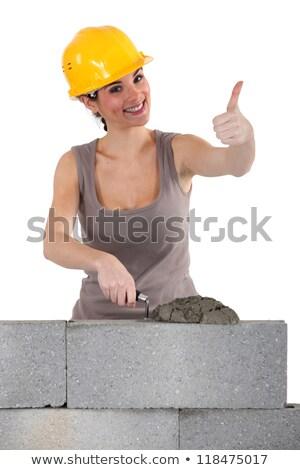 Stone mason giving the thumbs-up Stock photo © photography33