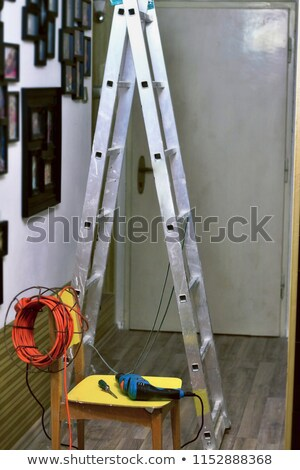 Craftsman with drill and coil of wiring Stock photo © photography33