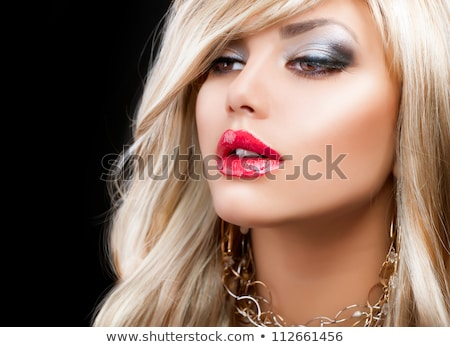 beautiful eye eyeshadow makeup blond woman stock photo © victoria_andreas