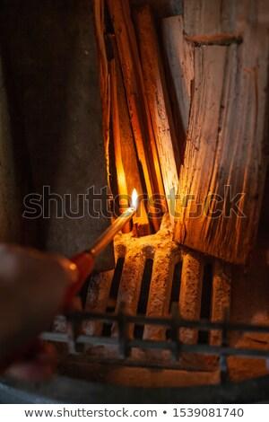 легче · стороны · изолированный · белый · дым · зеленый - Сток-фото © stocksnapper