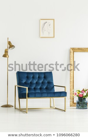 luxury pink armchair with golden frame stock photo © victoria_andreas