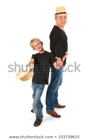 Sturdy father and son Stock photo © ivonnewierink