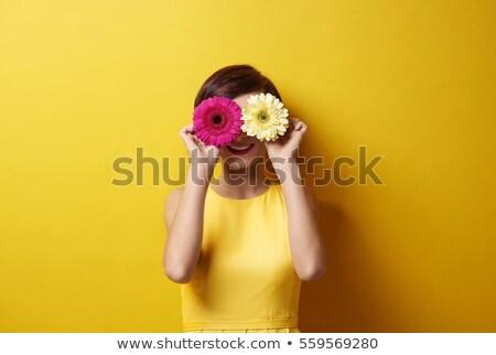 beleza · fresco · retrato · flor · saudável · pele - foto stock © carlodapino