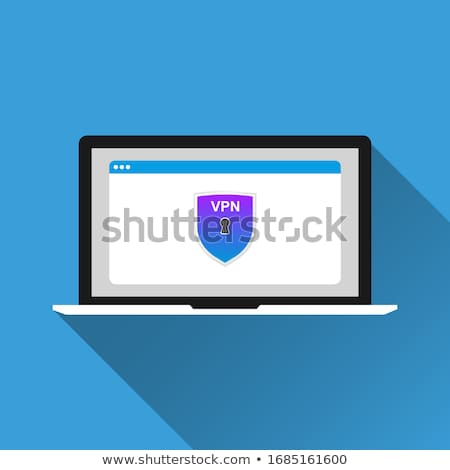 Padlock on laptop screen Laptop internet surfing protection Stock photo © fenton
