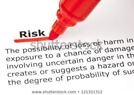Stockfoto: Risk Underlined With Red Marker