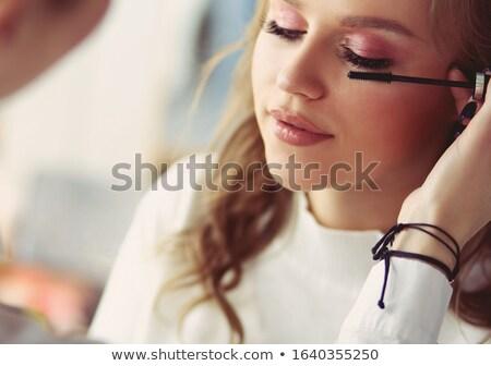 the fashion girl getting makeup stock photo © carlodapino