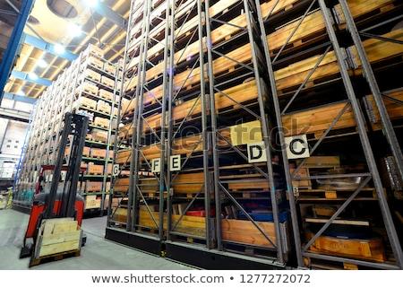 alto · cremalheira · armazenamento · industrial - foto stock © prill