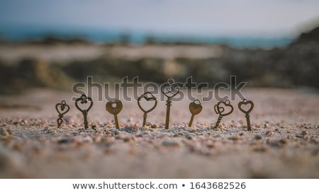 eski · anahtar · kum · Metal - stok fotoğraf © raywoo
