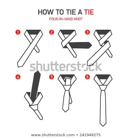 Tie knot tied on a shirt stock photo © a2bb5s