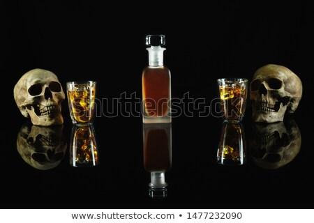 sarhoş · adam · teklif · şişe · viski · beyaz - stok fotoğraf © pedromonteiro