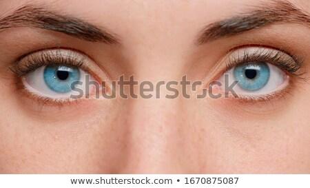 bakmak · iki · göz · model · büyü - stok fotoğraf © juniart