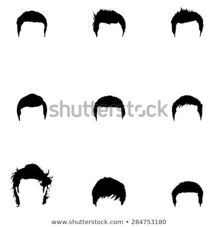 Mannelijke haren graphics ingesteld gezichtshaar grafische Stockfoto © mikemcd