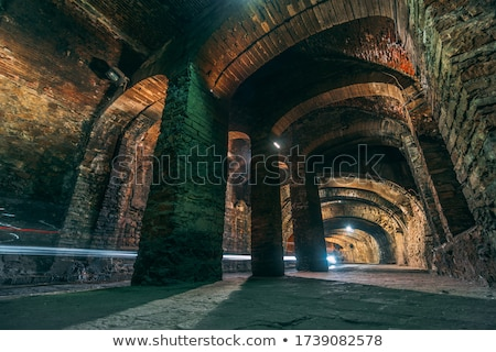 lang · licht · Blauw · vloer · architectuur · persoon - stockfoto © jkraft5