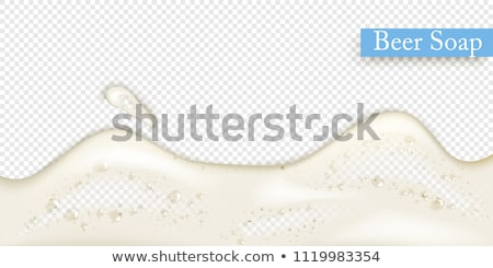 bier · schuim · macro · shot · top · glas - stockfoto © Gordo25