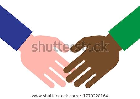 cartoon hand   reaching hands   vector illustration stock photo © indiwarm