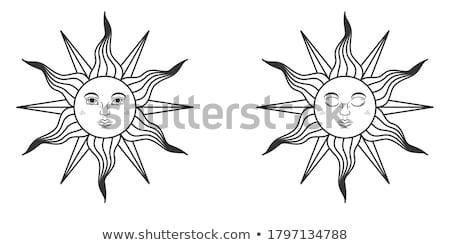 定型化された 太陽 ベクトル テンプレート ポスター 海 ストックフォト © krabata