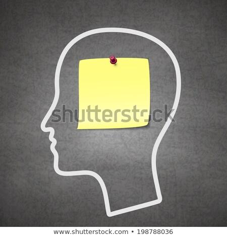 Cerebro recordatorio pérdida de la memoria salud mental médicos demencia Foto stock © Lightsource
