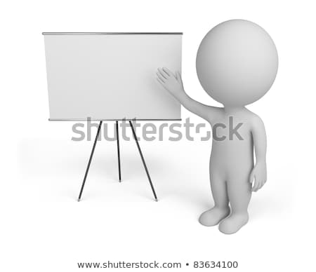 3D · faible · personnes · Billboard · personne · permanent - photo stock © AnatolyM