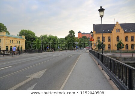 River in central Uppsala stock photo © sophie_mcaulay