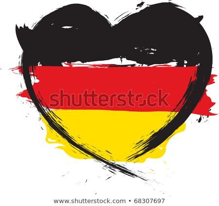 Vecteur coeur Allemagne pavillon texture isolé Photo stock © SolanD