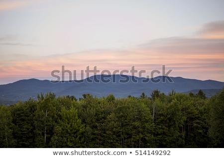 Bulutlar gün batımı dağlar Vermont renkli Nebraska Stok fotoğraf © DonLand