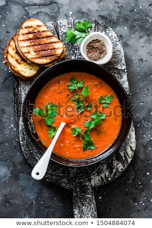 tomato gazpacho soup stock photo © m-studio