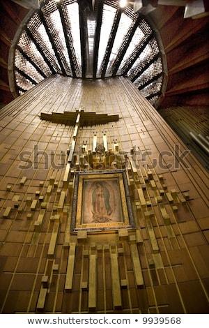 Vergine pittura santuario Città del Messico indian contadino Foto d'archivio © billperry