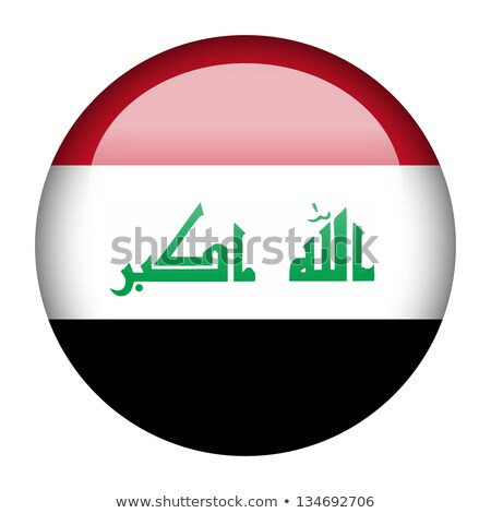 Botão Iraque mapa país mapas bandeira Foto stock © Ustofre9