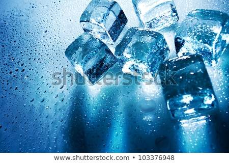 ice cubes over wet backgrounds with back light stock photo © tolokonov
