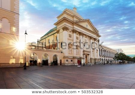 gyám · templom · történelmi · Varsó · Lengyelország · építkezés - stock fotó © photocreo