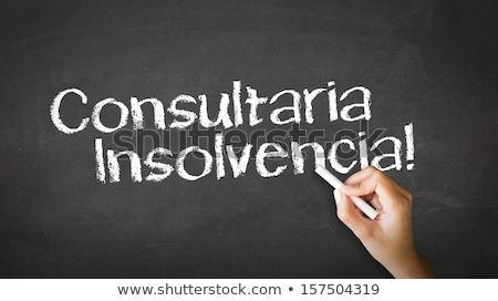 банкротство Consulting испанский человек рисунок указывая Сток-фото © kbuntu