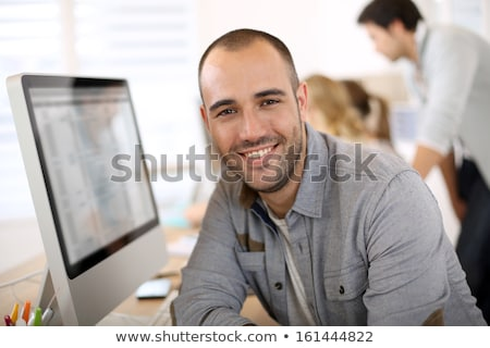 trendy 30 years old man portrait stock photo © aladin66