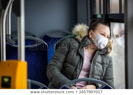 portrait of a woman in public transportation Stock photo © photography33
