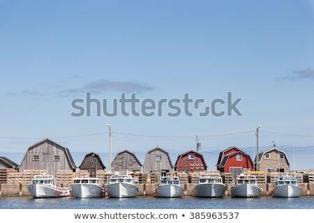 омаров стены древесины рыбалки Сток-фото © chrisbradshaw
